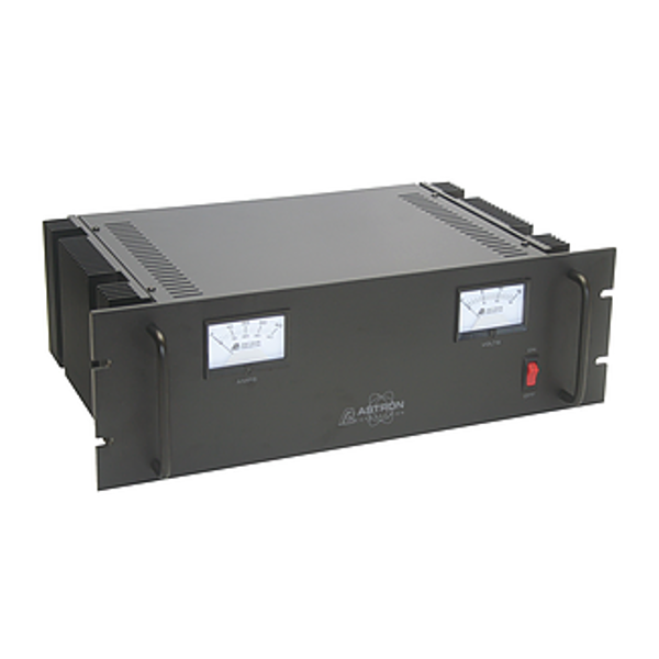 RM50M Rack Mount 12v 37 Amp / 50 Amp Surge w/ Meters and Backup