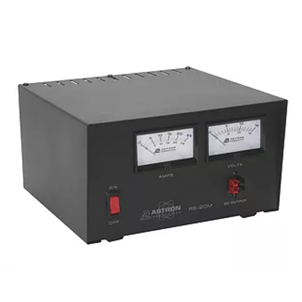 RS20M Regulated 12v 16 Amp / 20 Amp Surge Power Supply w/ Meters