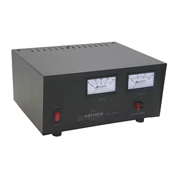 RS35M Regulated 12v 25 Amp / 35 Amp Surge Power Supply w/ Meters